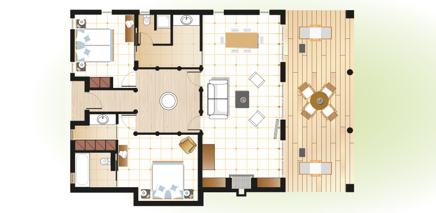 beach-villas-mandola-rosa-resort-floorplan