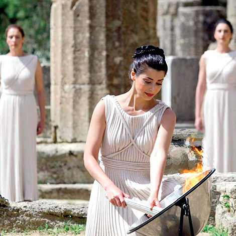 ancient olympia in peloponnese summer vacation