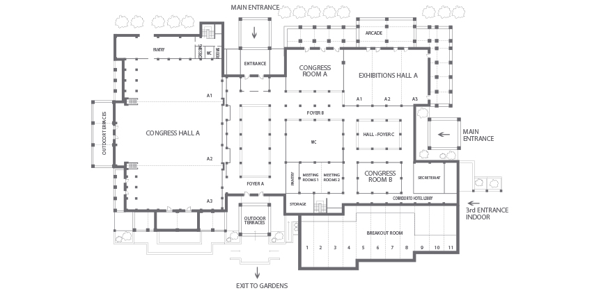 Riviera Olympia Meetings Floorplan